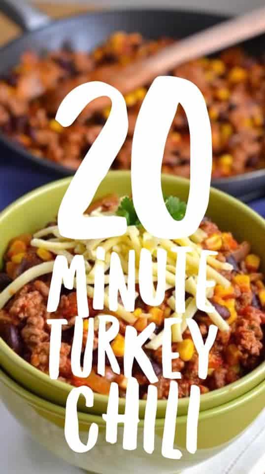20 minute turkey chili