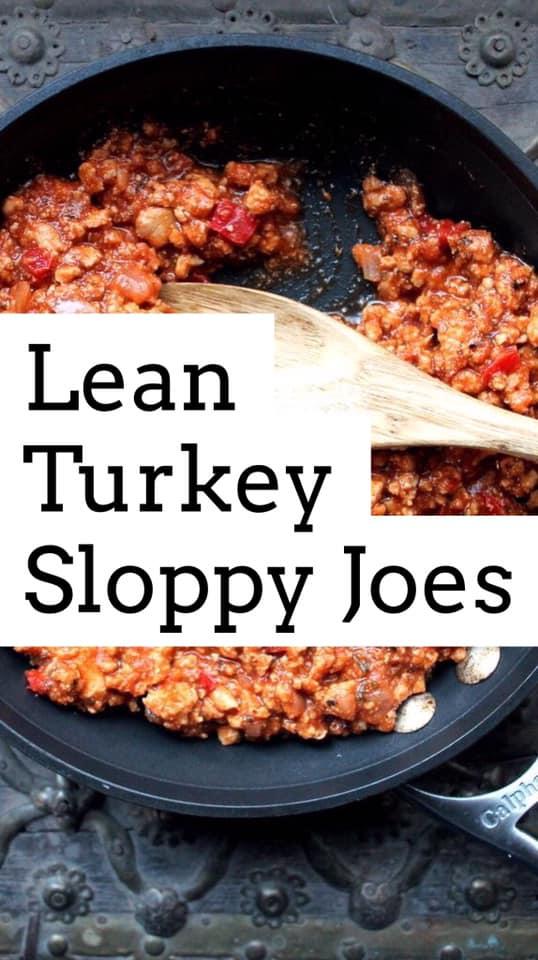 lean turkey sloppy joes