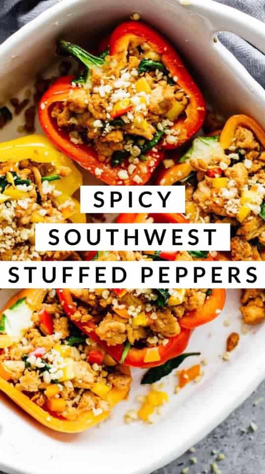 spicy southwest stuffed peppers