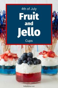 4th of july fruit and jello cups