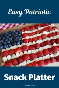 easy patriotic snack platter
