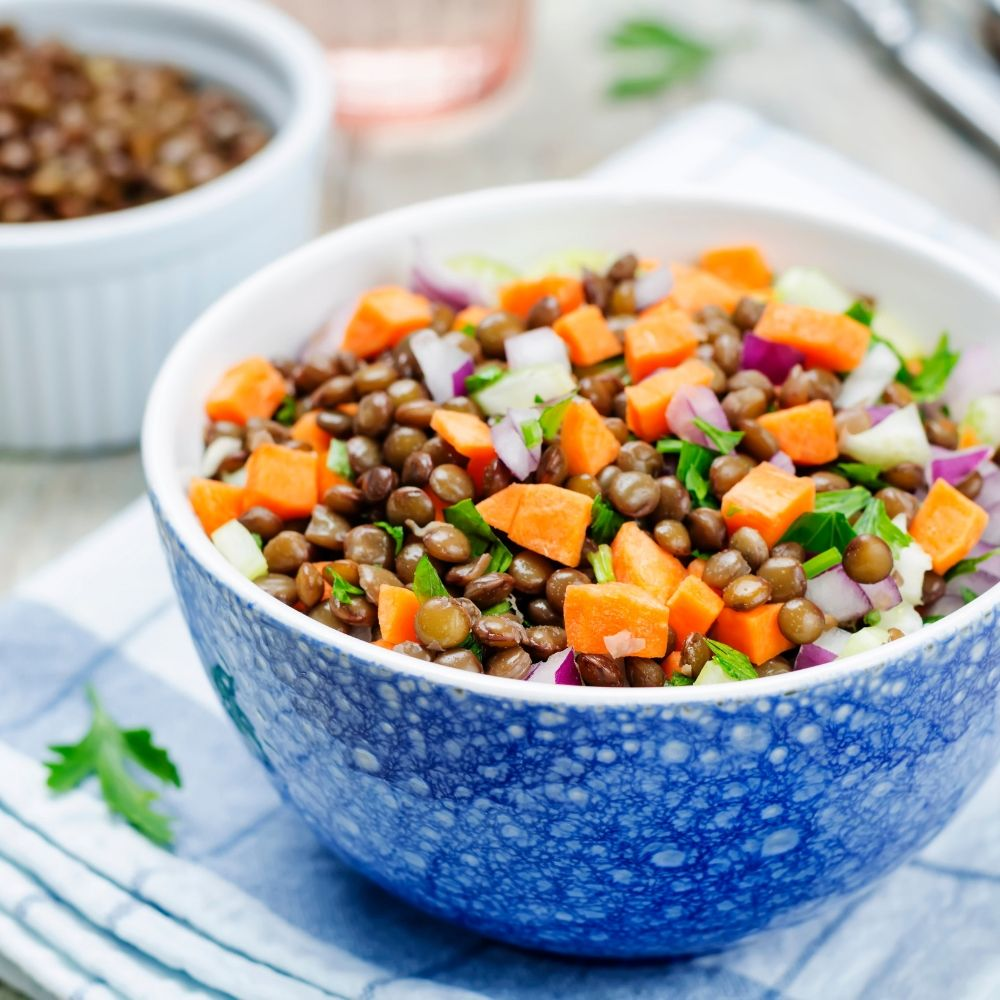 Beluga Lentil Salad Fluffy S Kitchen