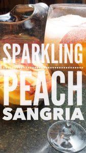 Sparkling Peach Sangria