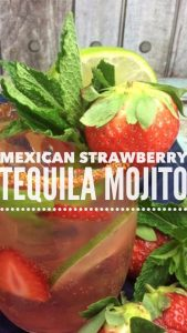 strawberry tequila mojito