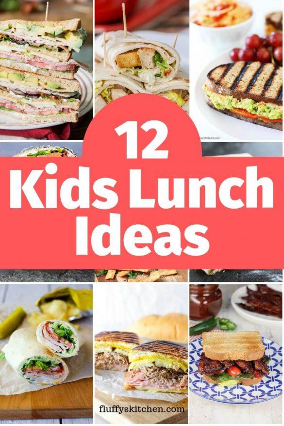 12 kids lunch ideas