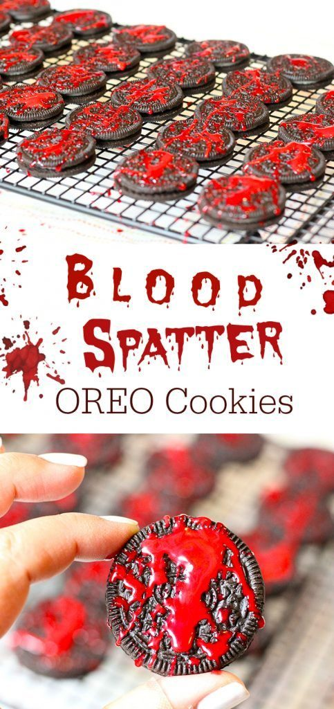 blood splatter oreo cookies
