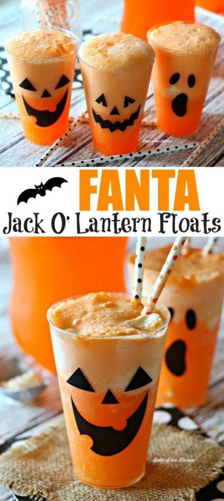 fanta jack o'lantern floats