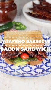 jalapeno barbecue bacon sandwich