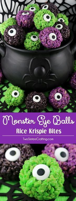 monster eye balls rice krispie bites