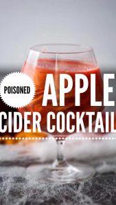 poisoned apple cider cocktail