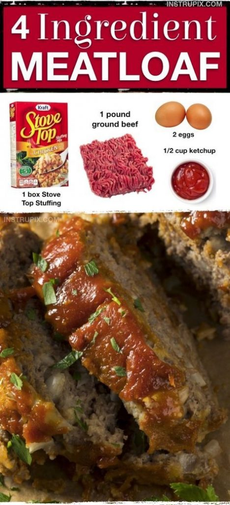 4 ingredient meatloaf