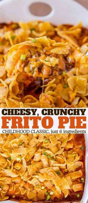 Cheesy crunchy frito pie
