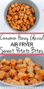 Cinnamon Honey Glazed Air Fryer Sweet Potato Bites