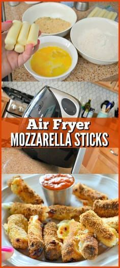 air fryer mozzerella sticks