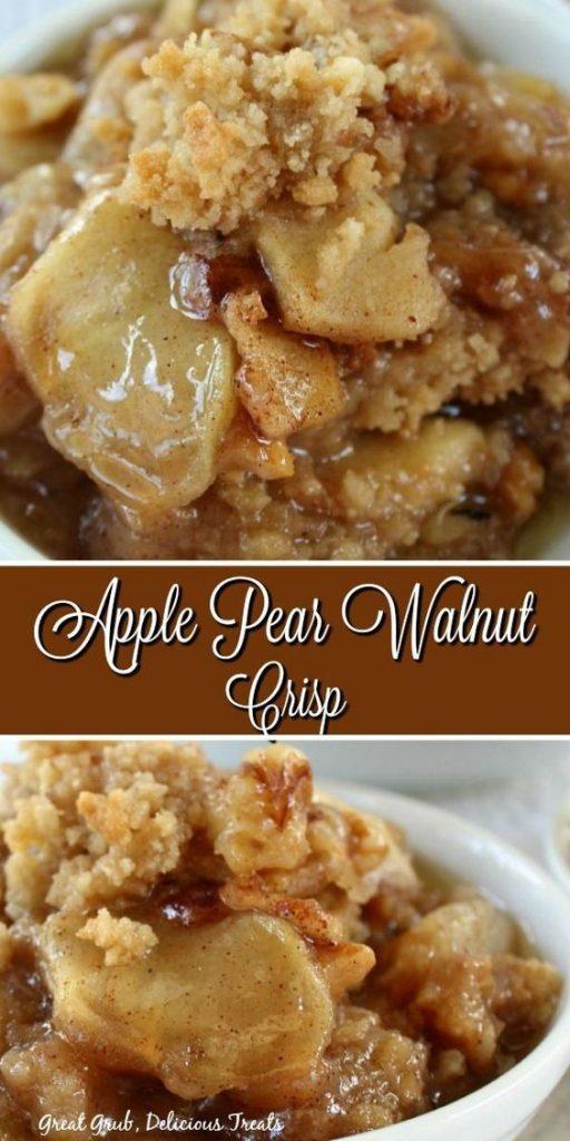 apple pear walnut crisp
