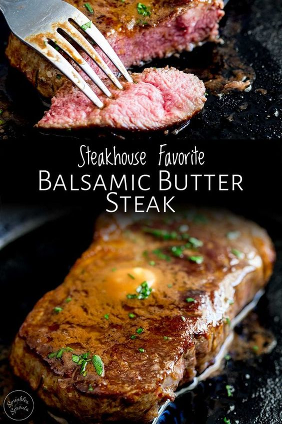 balsamic butter steak
