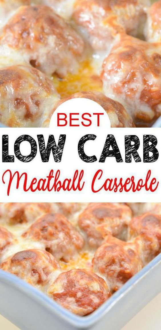 best low carb meatball casserole