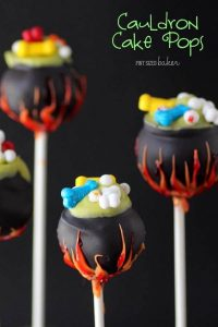 cauldron cake pops
