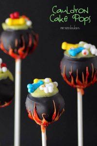 cauldron cake pops