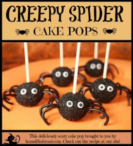 creepy spider cake pops