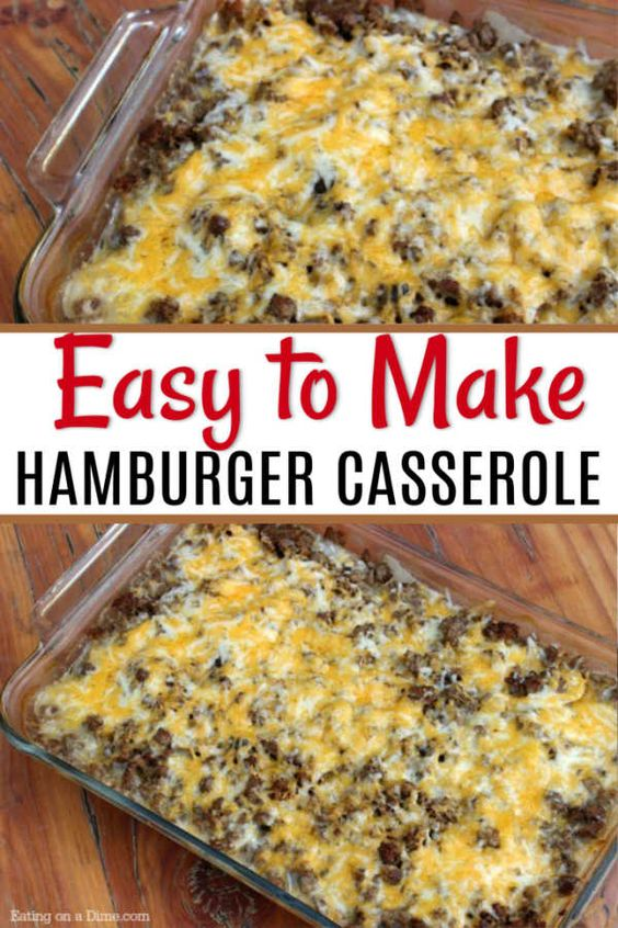easy hamburger casserole