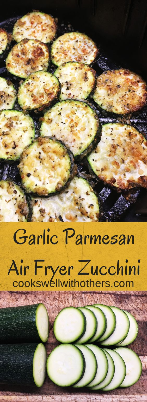 garlic parmesan air fryer zucchini