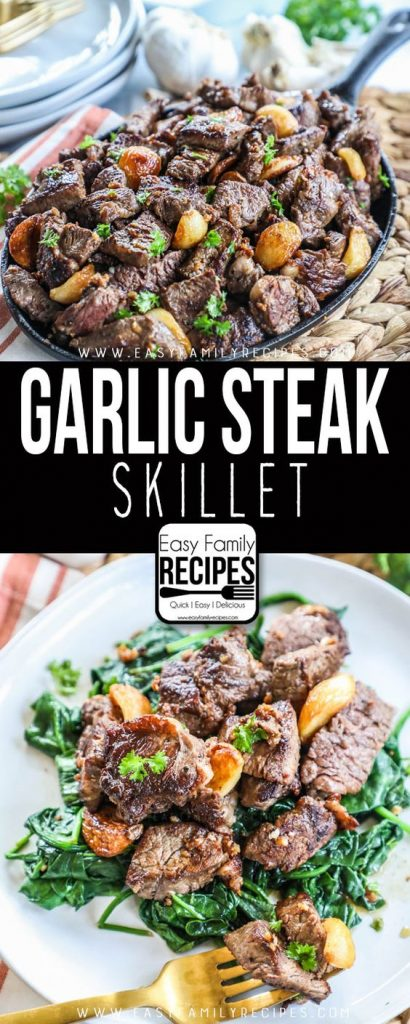 garlic steak skillet