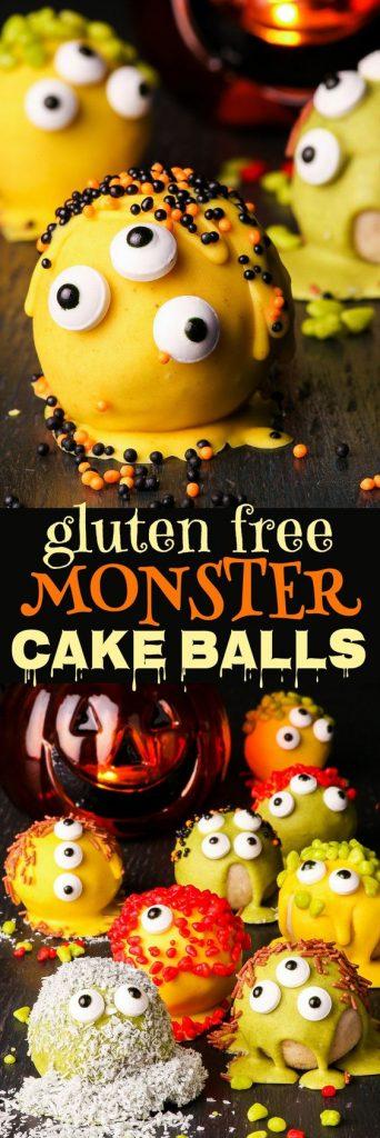 gluten free monster cake balls