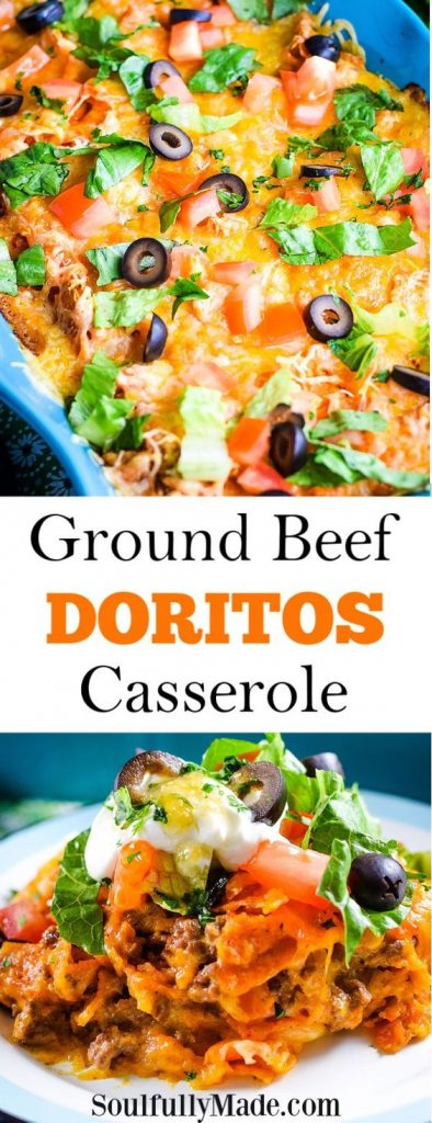 ground beef doritos casserole