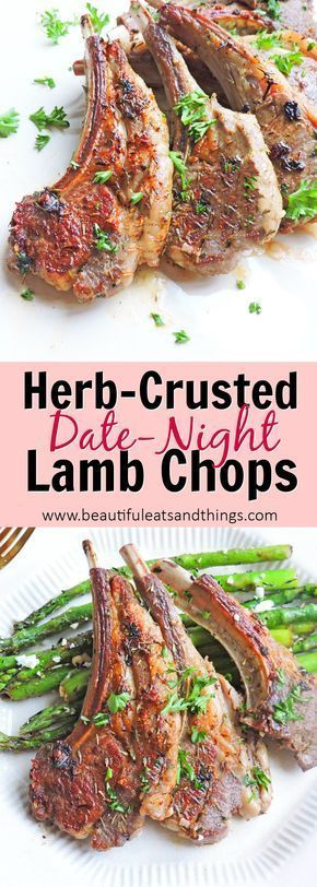 herb crusted date night lamb chops