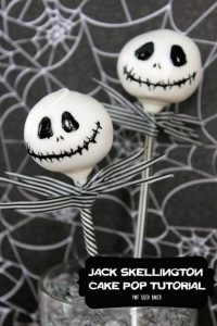 jack skellington cake pop