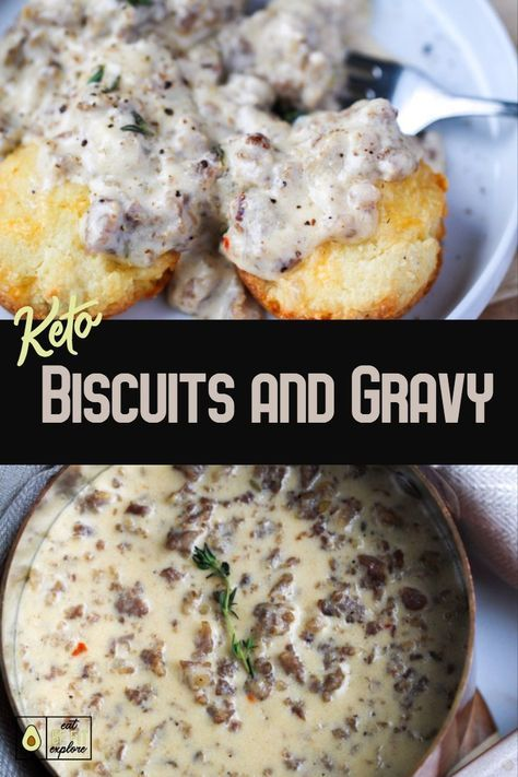 keto biscuits and gravy
