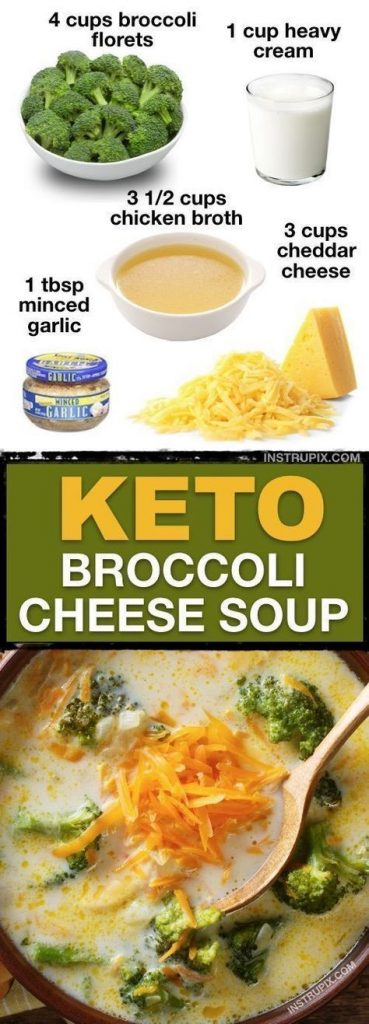 keto broccoli cheese soup 2