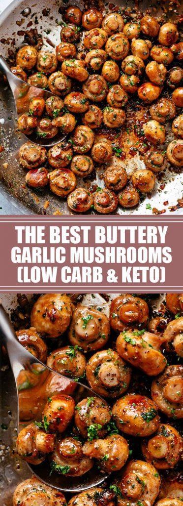 keto buttery garlic mushrooms