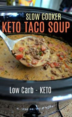 keto slow cooker taco soup