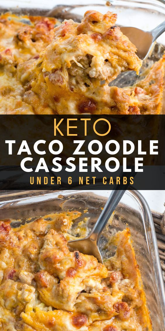 keto taco zoodle casserole
