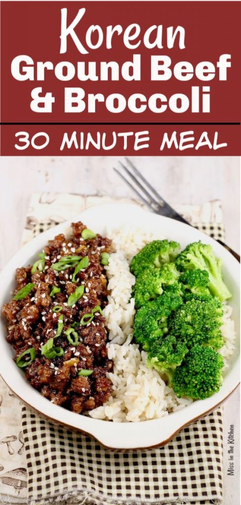 korean ground beef and broccoli