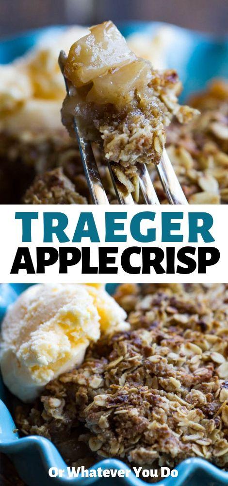 traeger apple crisp