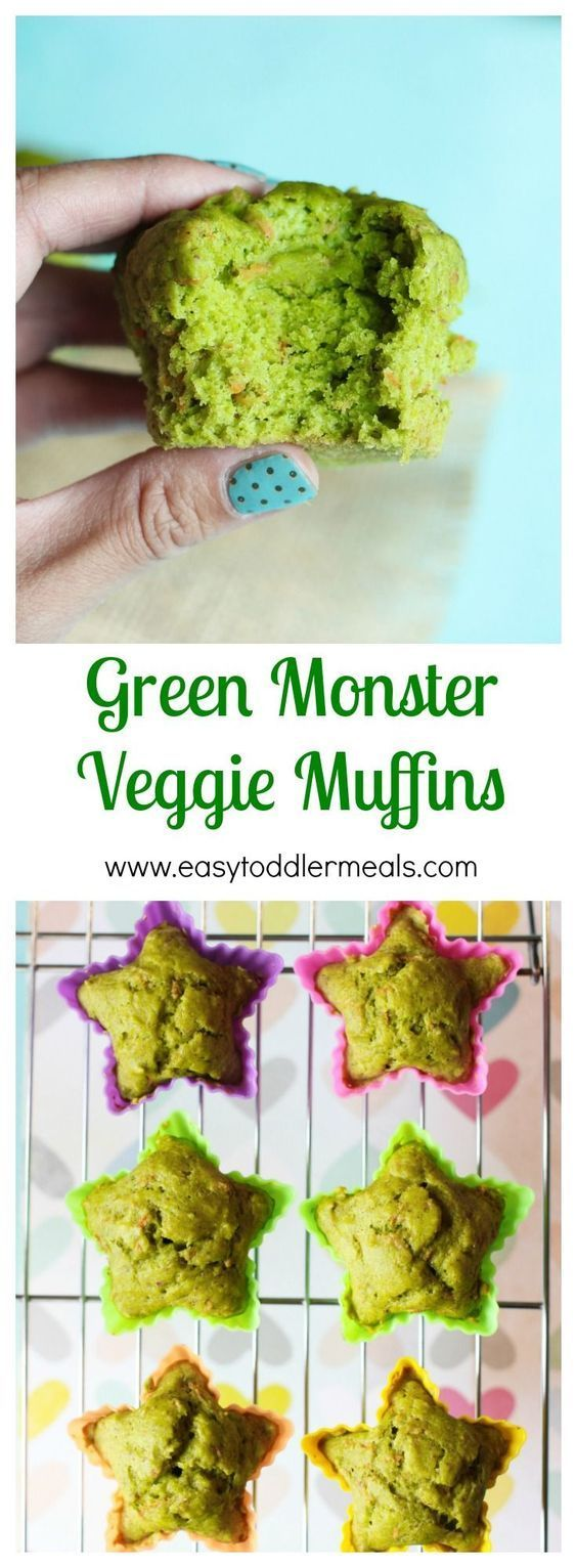 Green monsters veggie muffins