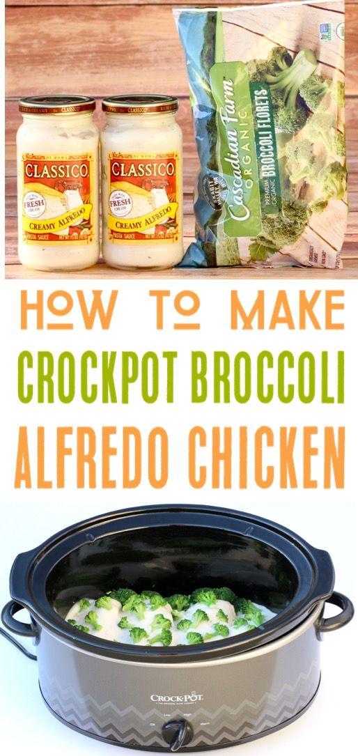 crock pot broccoli alfredo chicken