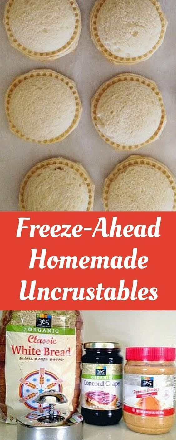 freeze ahead homemade uncrustables