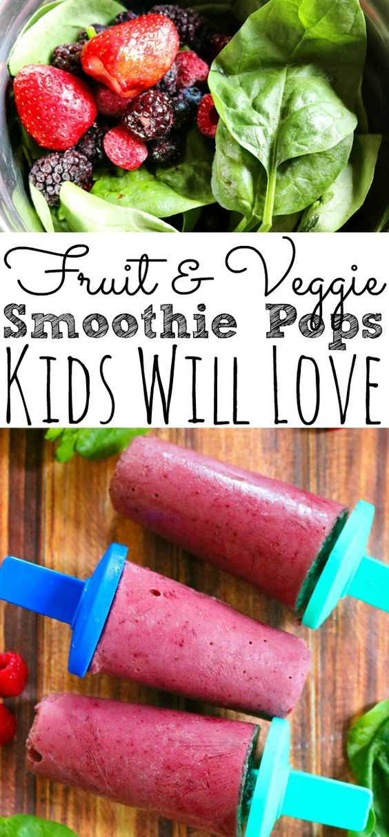 fruit and veggie smootie pops