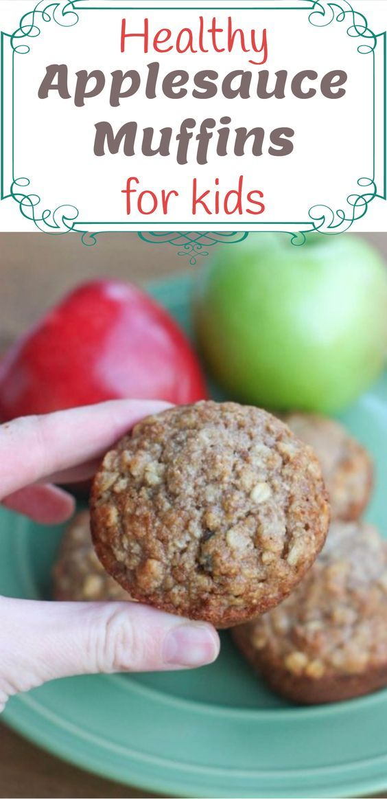 healthy applesauce muffins for kids