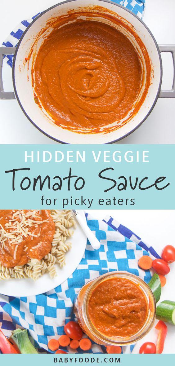 hidden veggie tomato sauce
