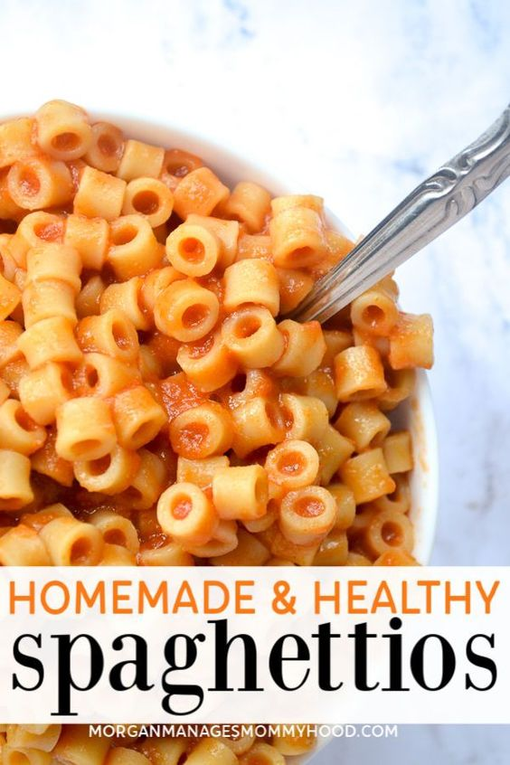 homemade and healthy spaghettios