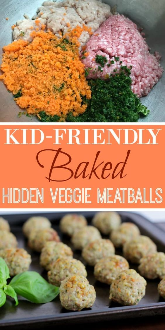 kid friendly baked hidden veggie meatball