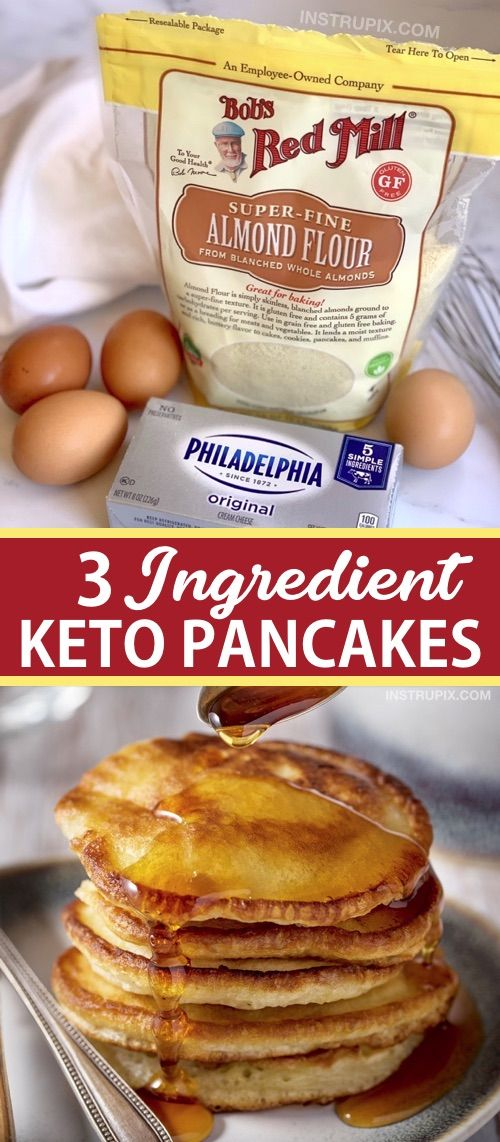 3 ingredient keto pancakes