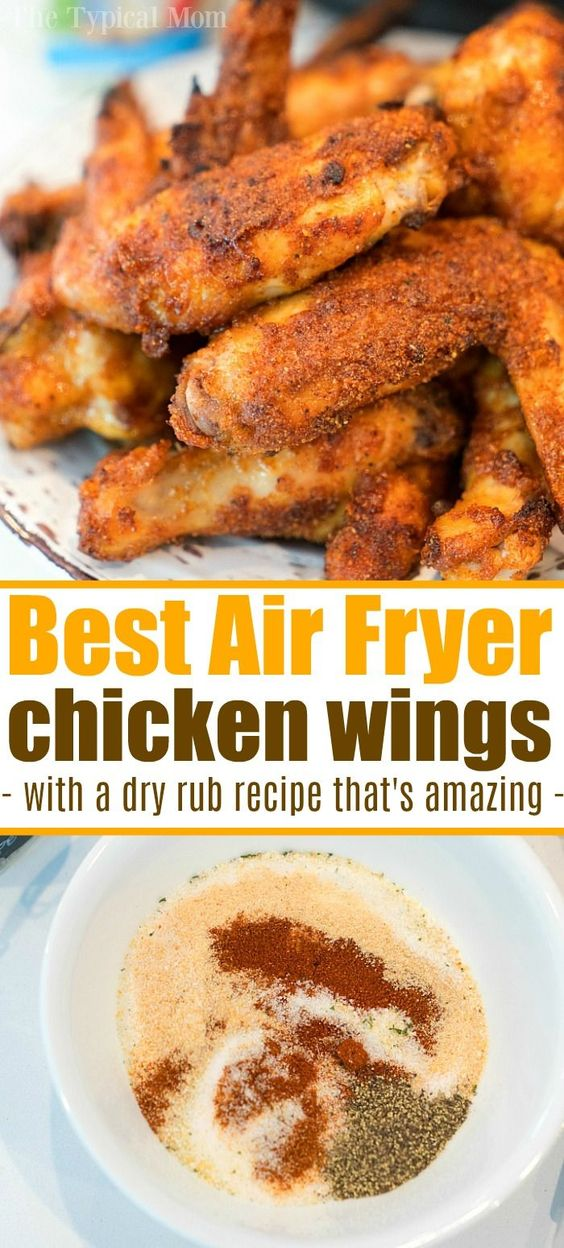 best air fryer chicken wings with dry rub