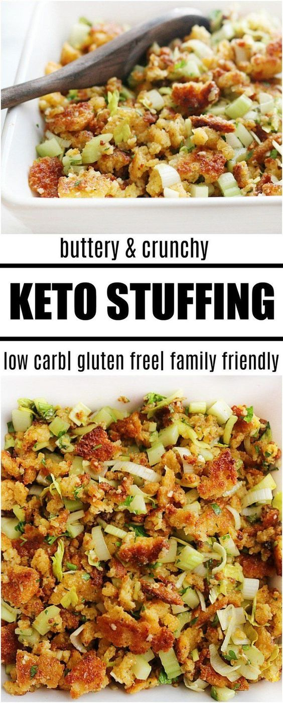 buttery and crunchy keto stuffing