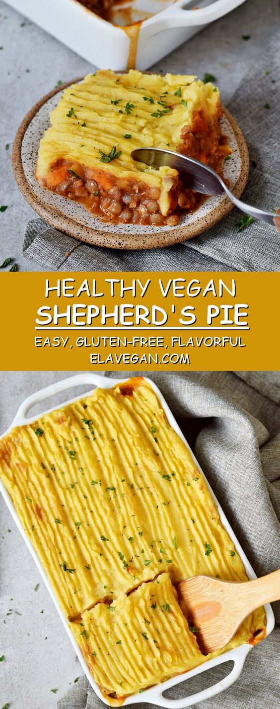 healthy vegan shepherd's pie
